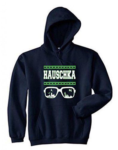 67874be23 Seattle Seahawks Steven Hauschka Men's Hoodie with Pockets Super Bowl  XLVIII New 12th Man Go Hawks
