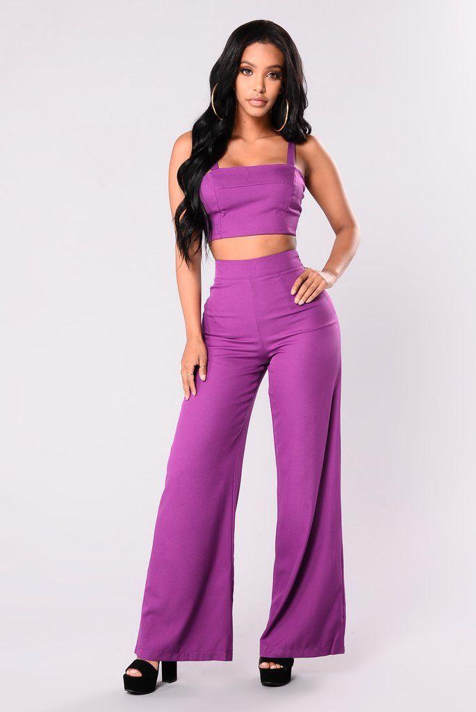 Lorie Dorie Pant Set - Purple | Pinterest