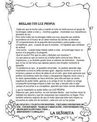 Apoyo Escolar Ing Maschwitz Julio 2012 Mensajes De Maestra Para