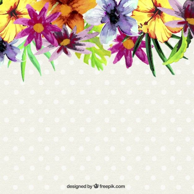 Free Vector Watercolor Flowers Background 9997 Watercolor