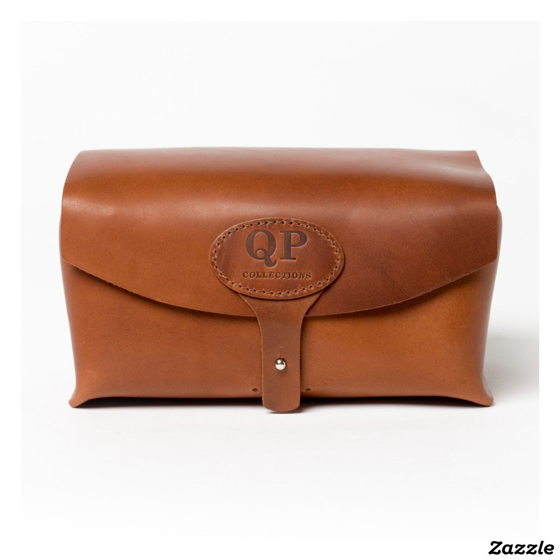 4020ede469bf Light Leather Toiletry Kit with Monogrammed Handle