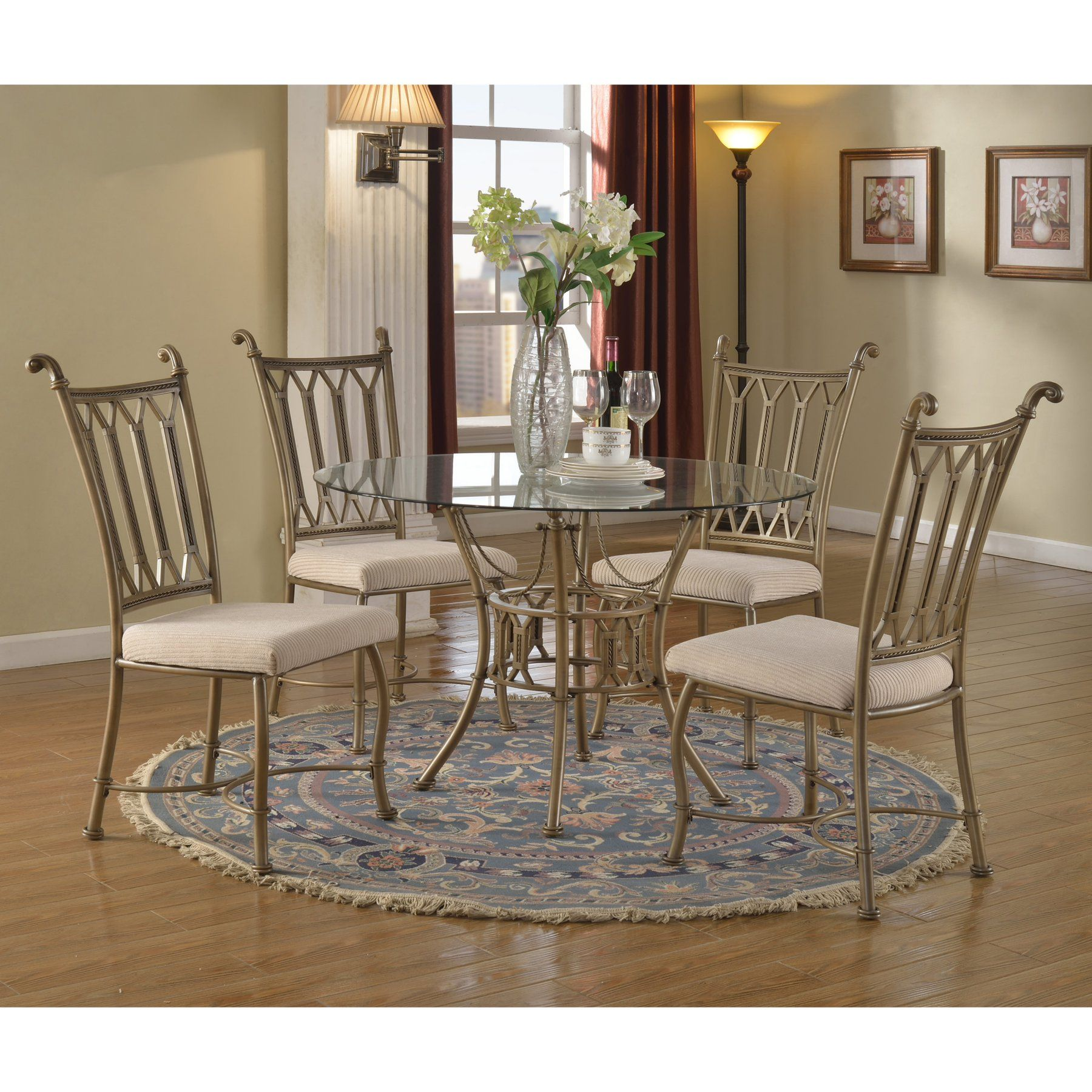Chintaly darcy piece round dining table set cty round