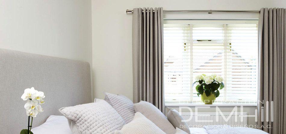 Combinaci n de cortinas y persianas persianas pinterest - Persianas y cortinas ...