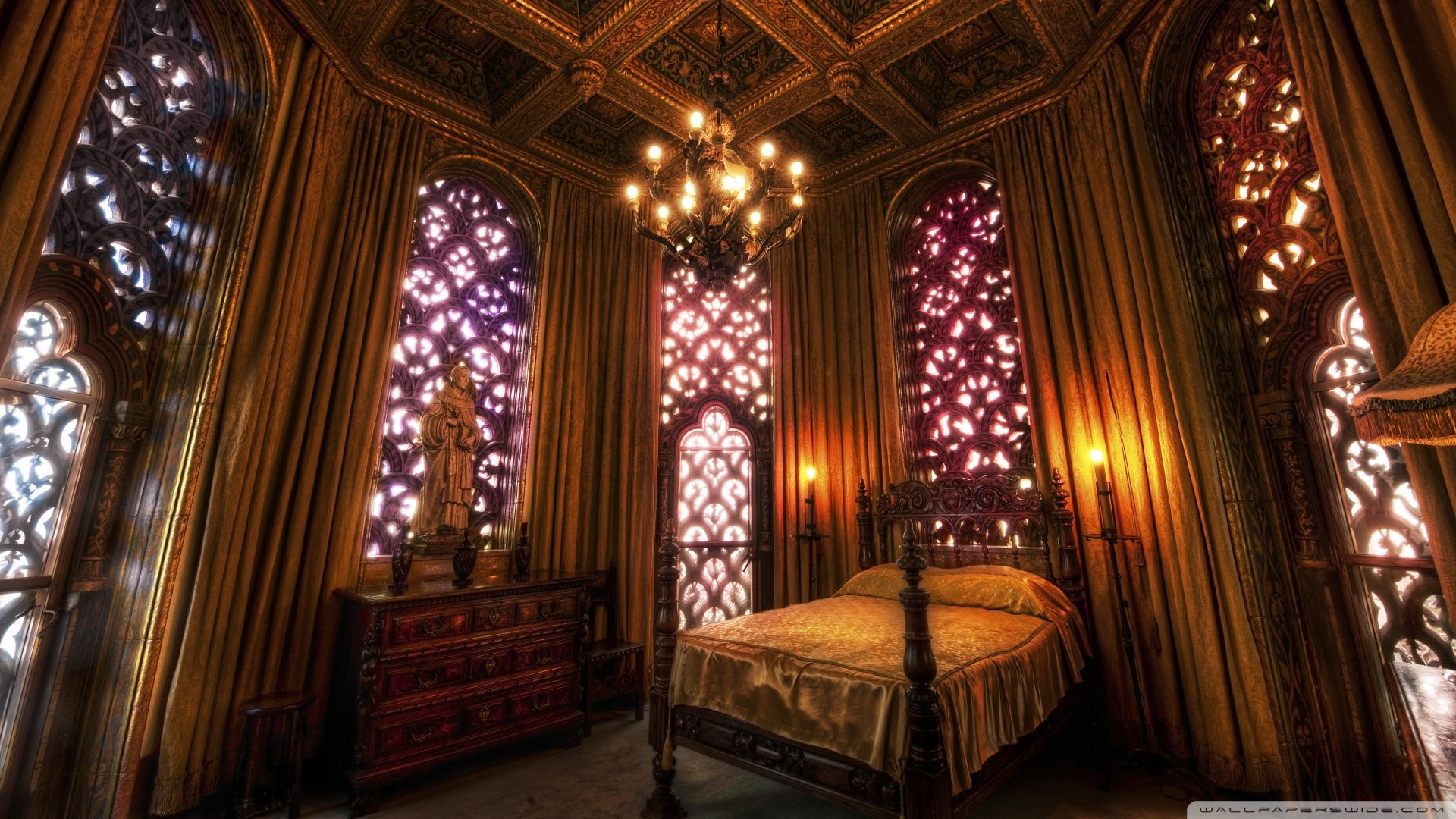 Castle master bedroom - Bedroom From William Randolph Hearst S Private Residence Hearst Castle 1920 S While There