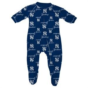 a0ba489f83298 Baby New York Yankees Sleeper  NY  Yankees  Baby  Infant  Sleeper  Pajamas   babyfans