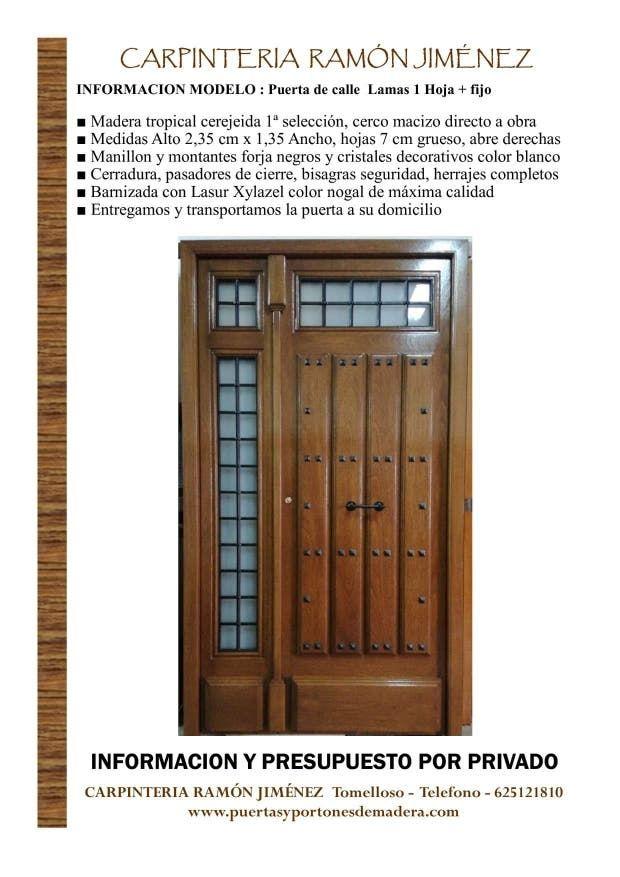 Puertas De Calle En Madera Maciza Tropical De Segunda Mano Por 1 En Tomelloso En Wallapop En 2020 Madera Maciza Puertas De Madera Maciza Losas Macizas