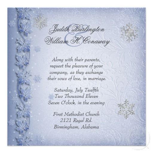 Winter Wedding Invitations Winter Wedding Invitations Wording