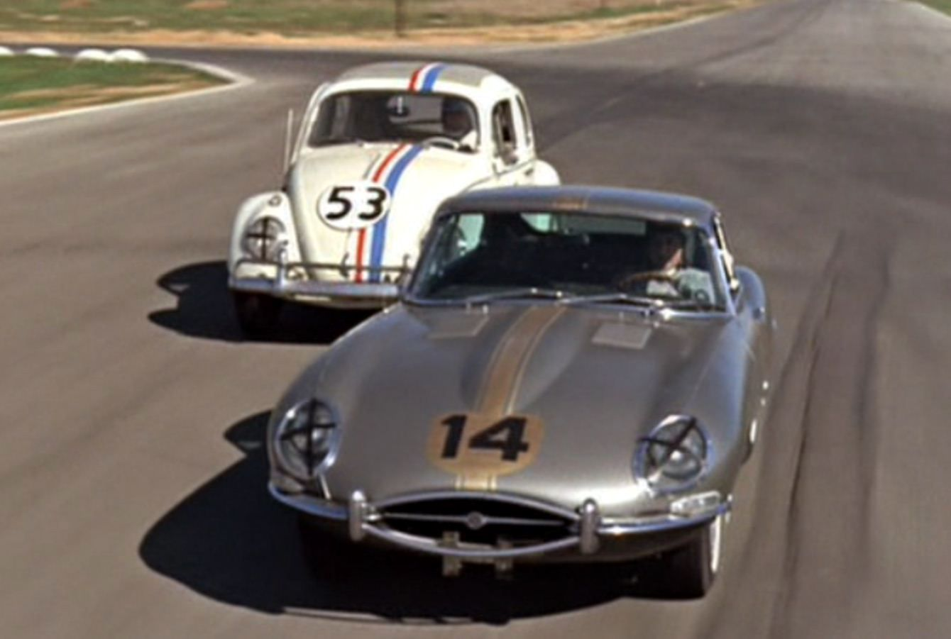 Just a car guy : racing in the Love Bug movie, 1968 | Automobiles ...
