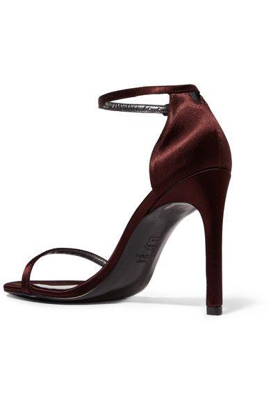 Satin Strap Sandals - IT37.5 / Black Stuart Weitzman TFAFcEfw