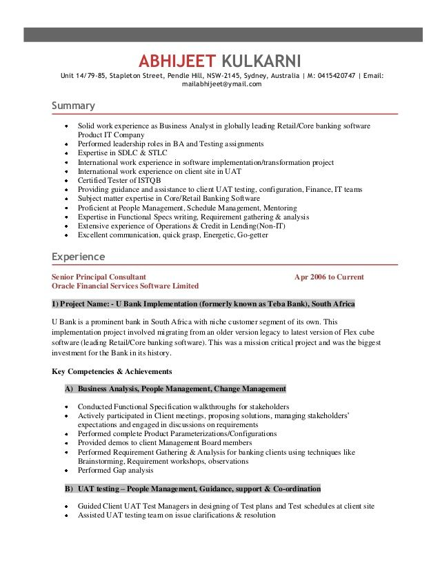Software Qa Resume Fair For Qa Lead  Sample Resume