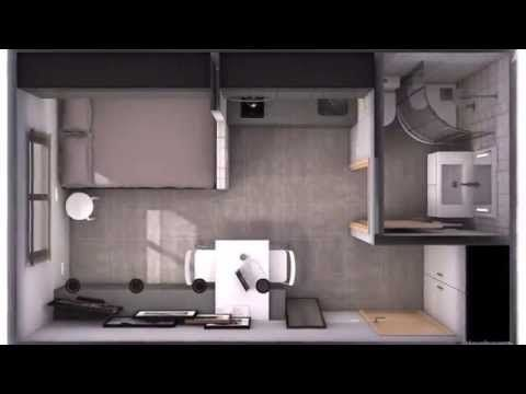 Tiny apartment 16m2 pure black and white youtube for 25m2 wohnung einrichten