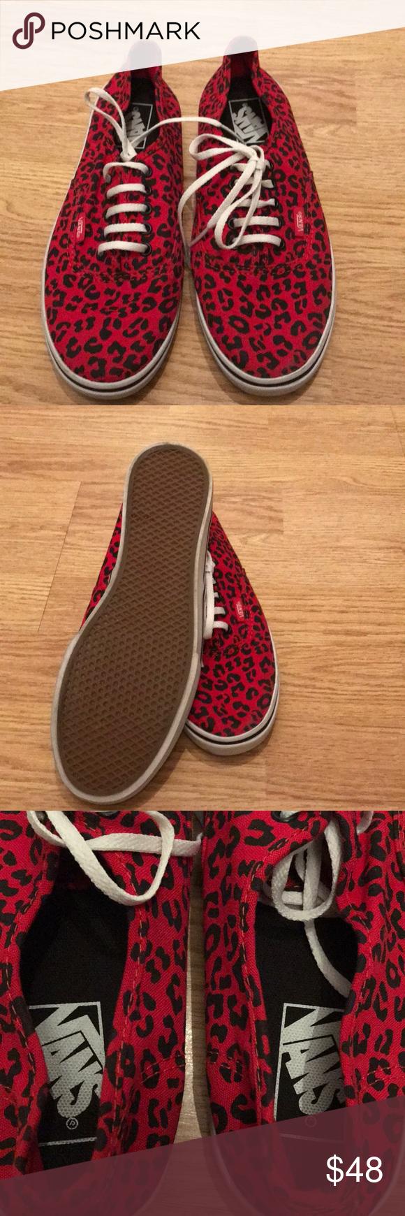 red and black leopard vans
