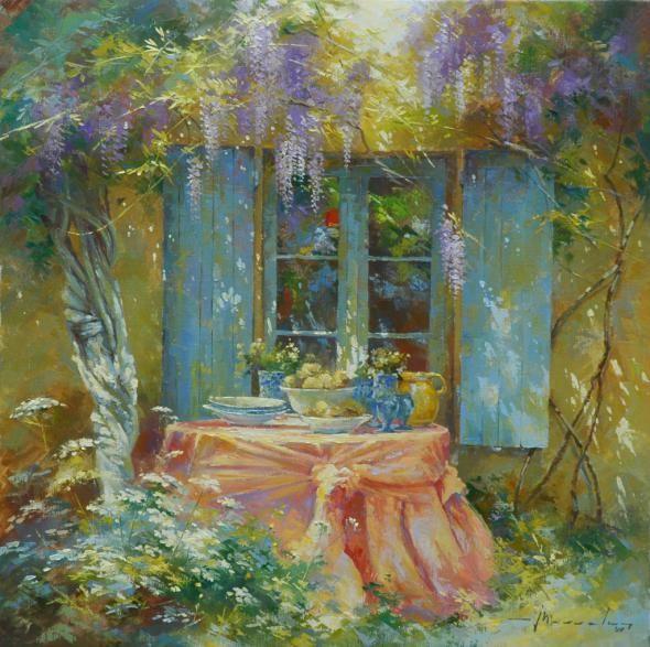Johan Messely 1927   Belgian painter   The Secret Gardens