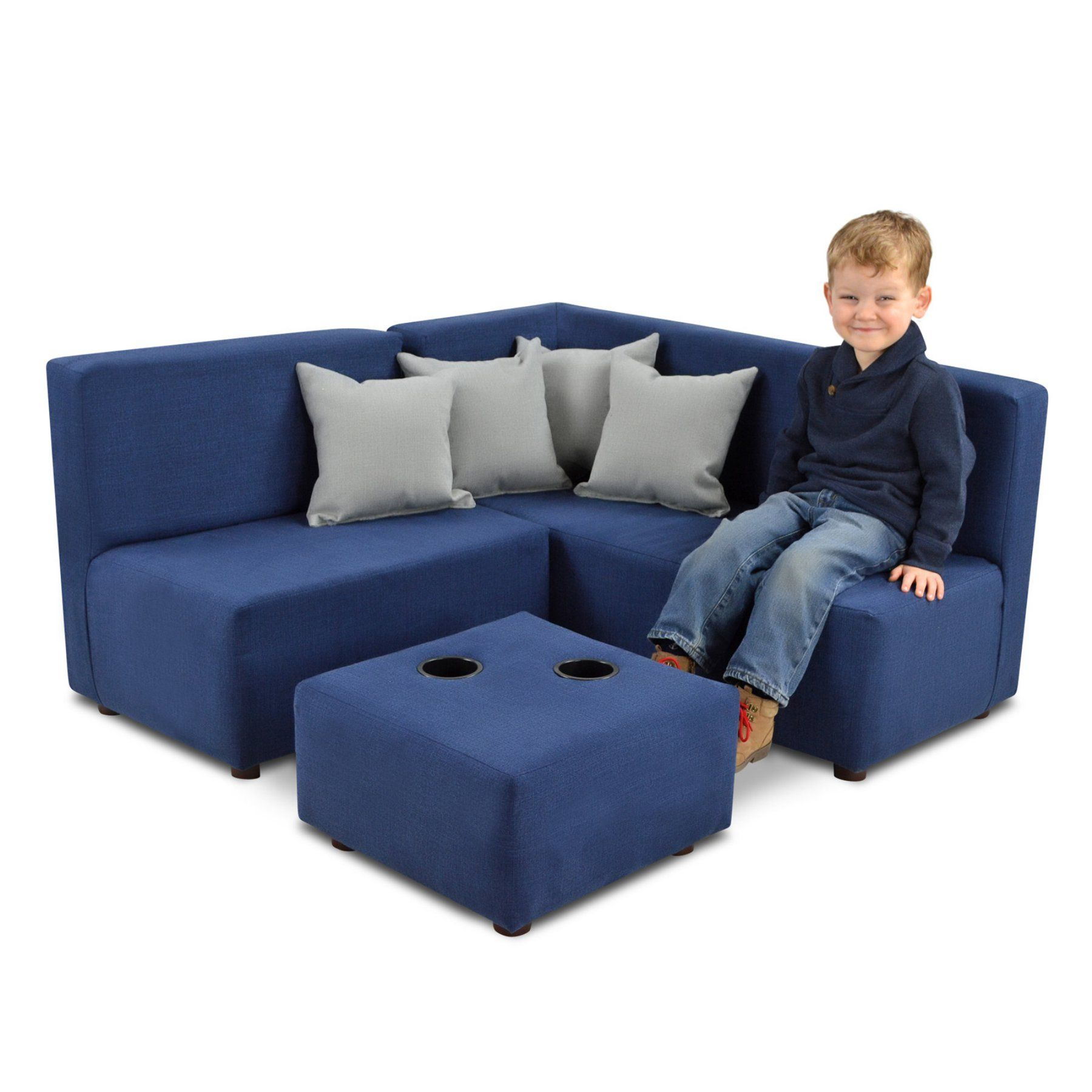 Best Kangaroo Trading Kids 7 Piece Upholstered Sectional Sofa 400 x 300