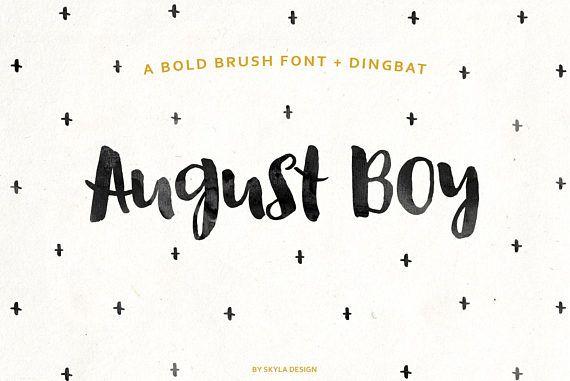 Modern brush font, Bold script, font download, hand lettered