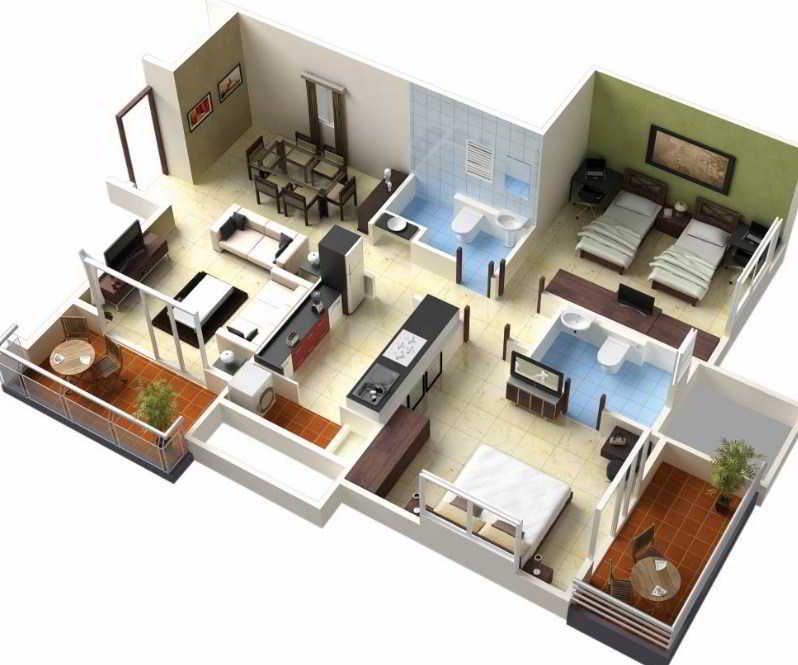 10 Denah Rumah Minimalis Sederhana Type 36 2 038 3 Kamar Tidur Denah Rumah Kecil Denah Lantai Rumah Denah Rumah