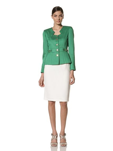 Tahari By A S L Women S Skirt Suit Kelly Green Cloud Women