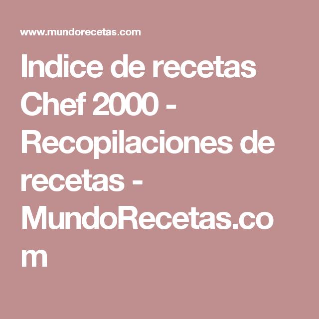 Recetas para chef 2000