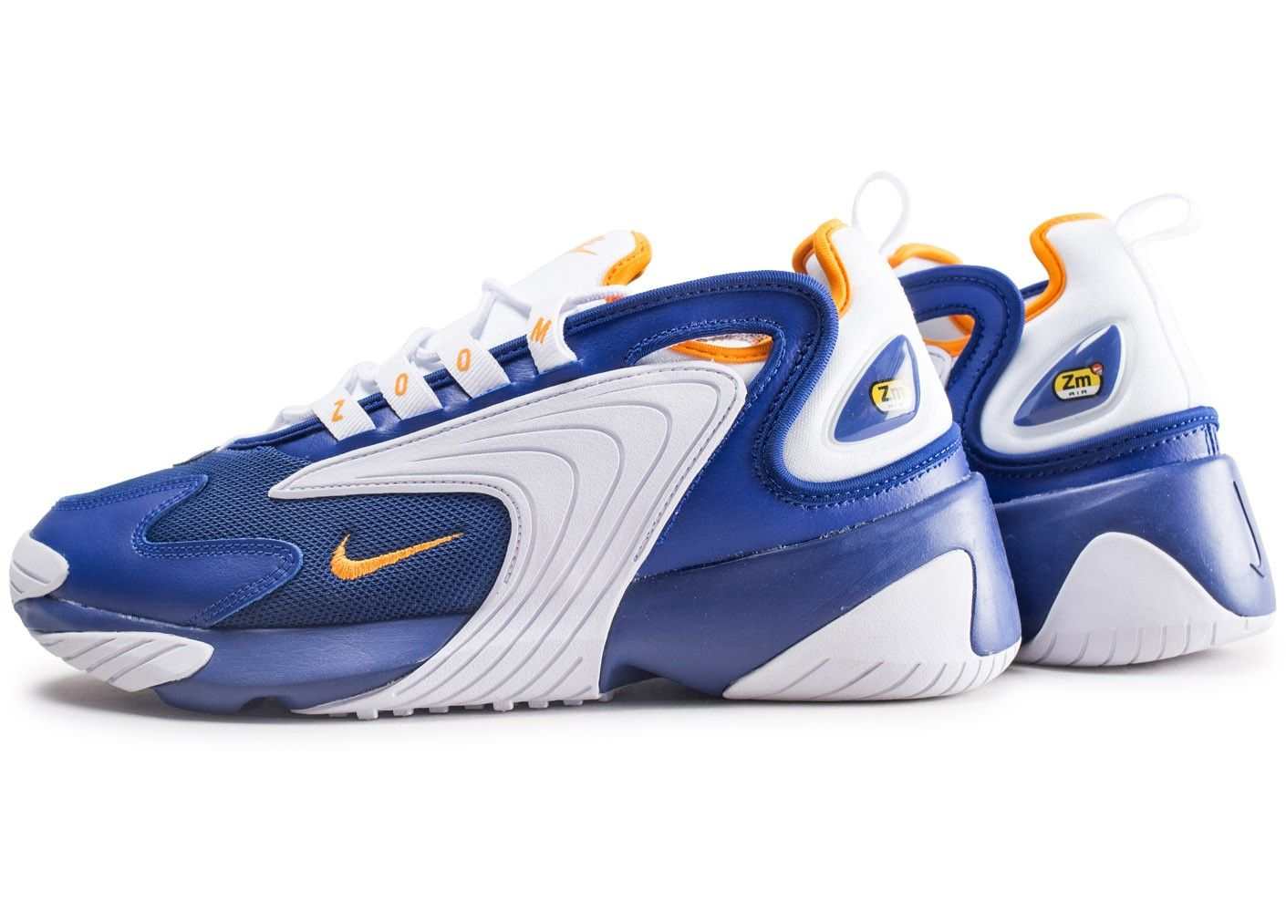 Les baskets Nike Zoom 2K bleu et orange. Disponible sur ...