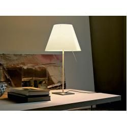 Photo of Luceplan table lamp Costanza white, designer Paolo Rizzatto, 76-110xfoot 18xfoot 18 cm LucePlanLucePlan