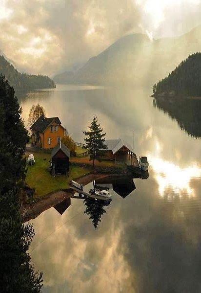 A floating paradise...Telemark, Norway