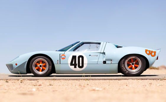 1968 Ford Gt40 Gulf Mirage Lightweight Racing Car Ford Gt40