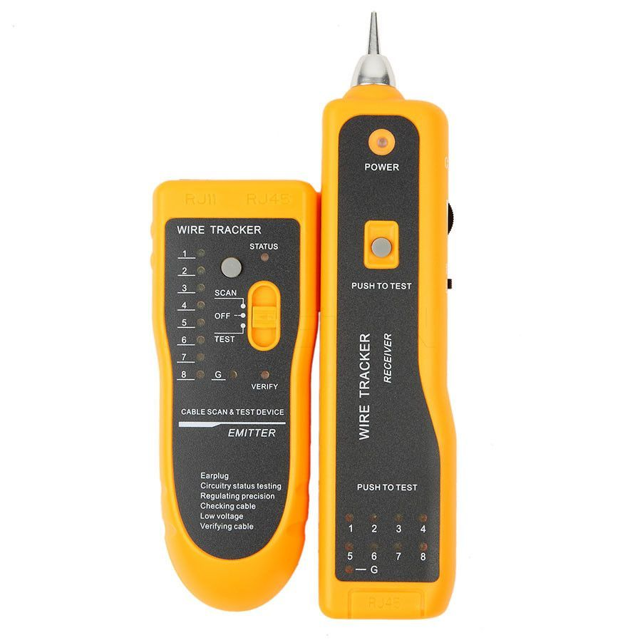 2016 Hot Sale RJ11 RJ45 Cat5 Cat6 Telephone Wire Tracker Tracer Toner Ethernet LAN Network Cable Tester Detector Line Finder