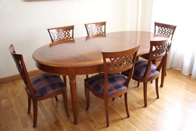 Madera de cerezo estado impecable poco uso mesa - Mesa ovalada comedor ...