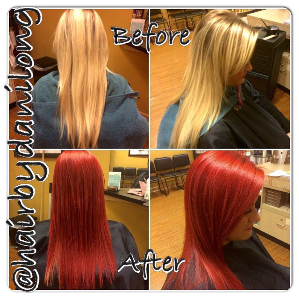 Vibrant Red Hair Color Makeover Orem Ut Vibrant Red Hair Red Hair Color Red Hair