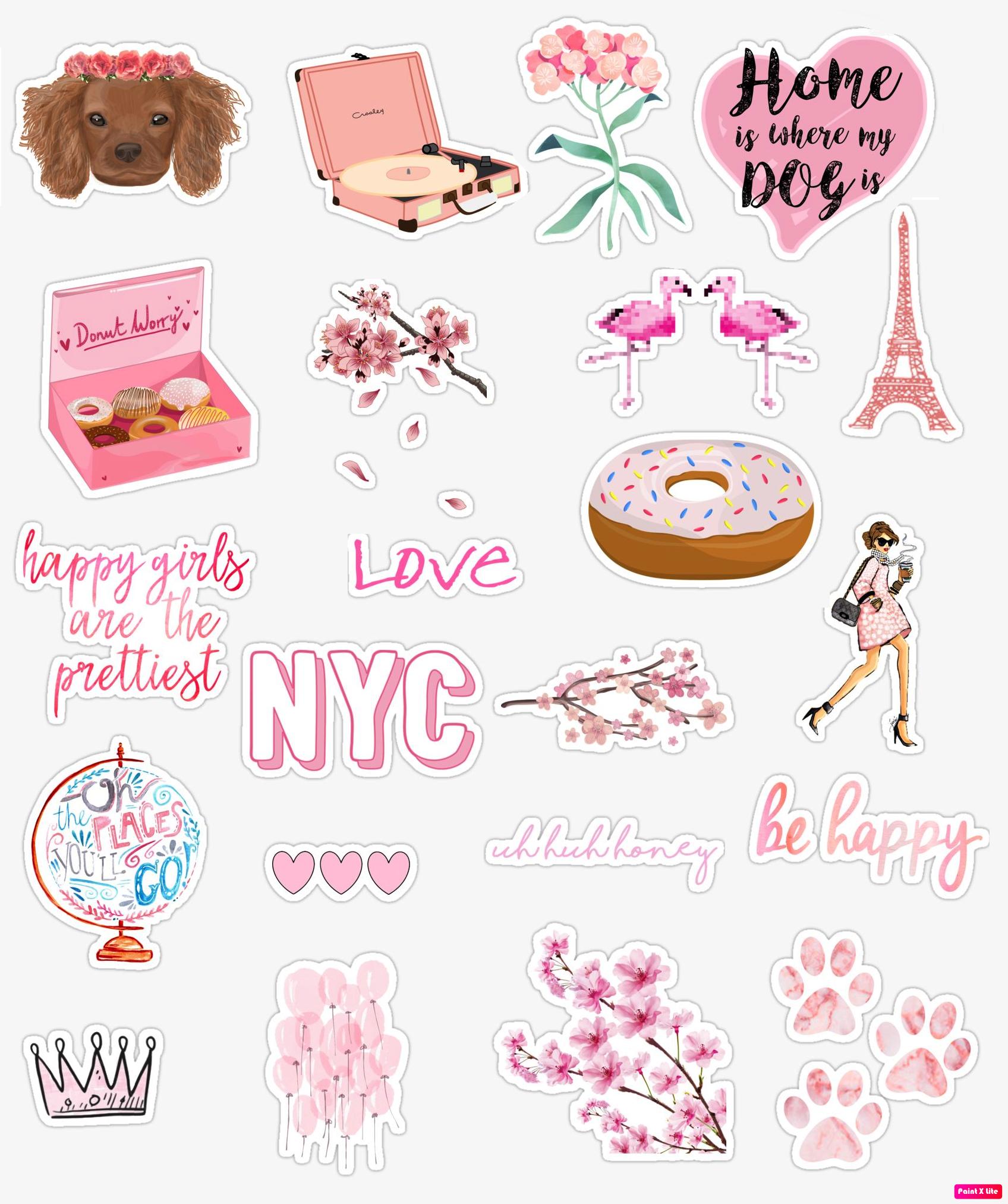 ♡Insta: PrettyInPinks ♡ Made My First Sticker Collage