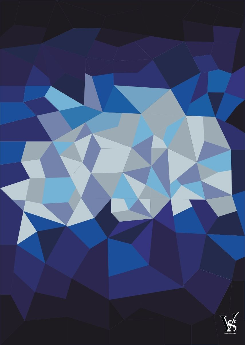 Low poly wall artinstant downloadhome decordigital download