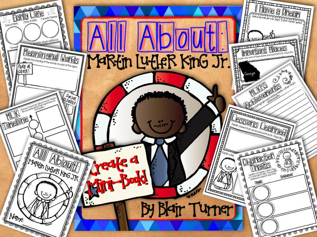Free Martin Luther King Jr Create A Mini Book
