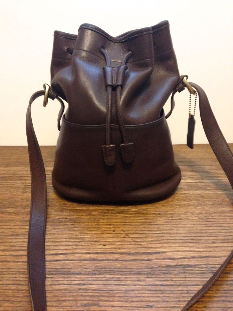 Vintage Coach Purse 4151 Thompson Drawstring Bucket Bag USA Brown Glove  Leather  Coach  MessengerCrossBody f3c6ad6f5652d