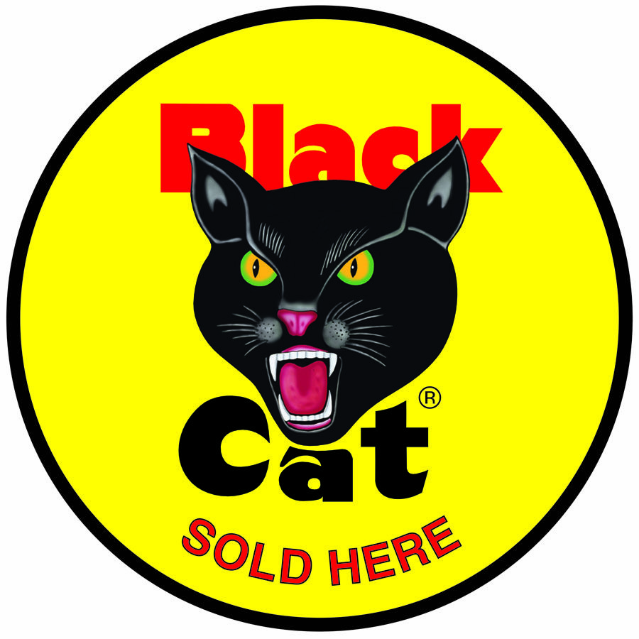 Black Cat Fireworks Sold Here Logo | Black Cat Logos/Retro Labels ...