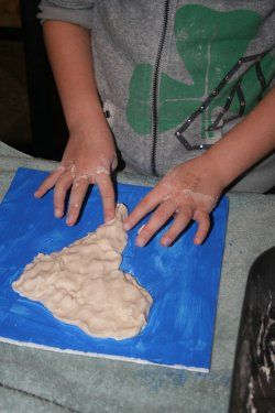 Making a 3D Salt Dough Map | Other State Project Ideas | Map ...