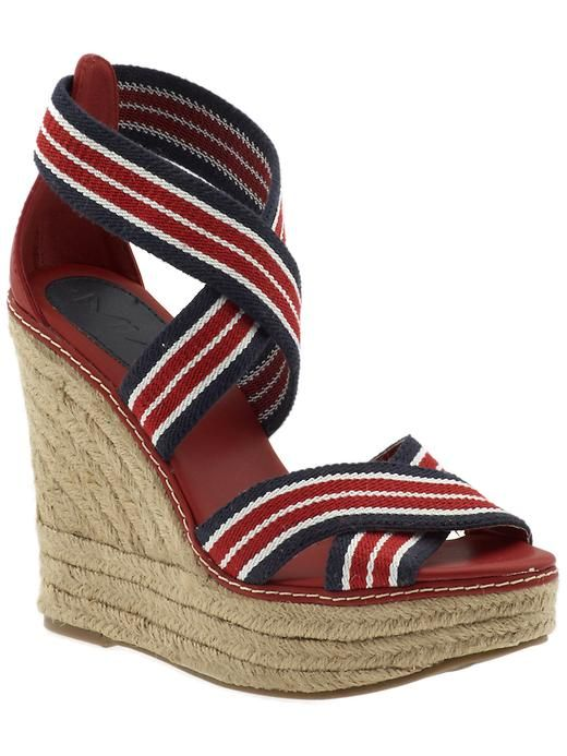 55421c470 striped wedges from mia shoes. lil bit obsessed with these bad boys!! (uber  comfy