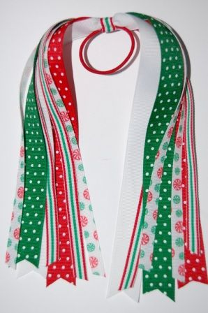 Christmas Candy Hair Streamers Pony-O