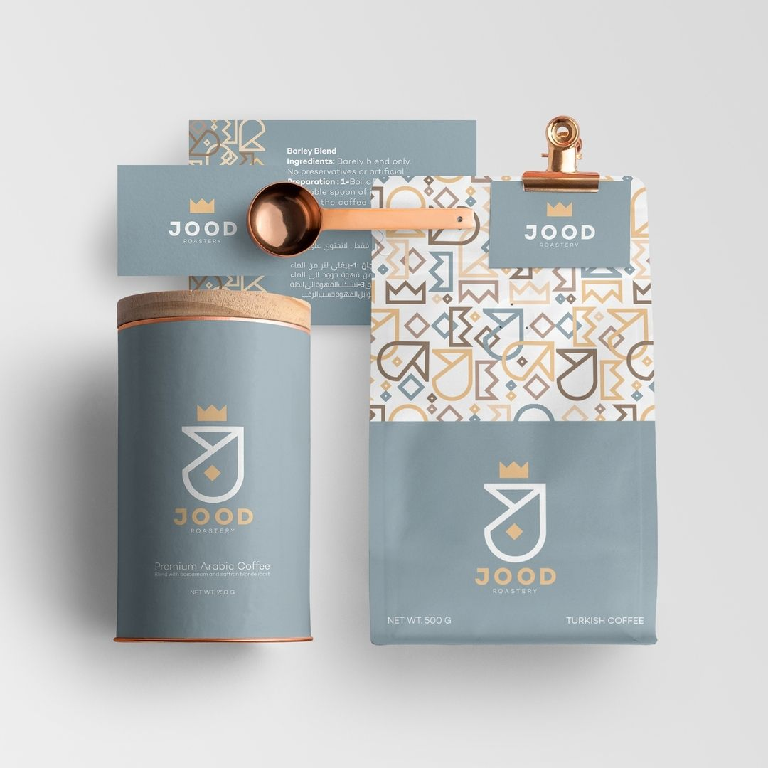 Jood Roastery Design By Kindaghannoum Behance Net Kindaghannoum Visual Identity Packaging Jood Is An Arabi Coffee Roastery Coffee Logo Branding Design
