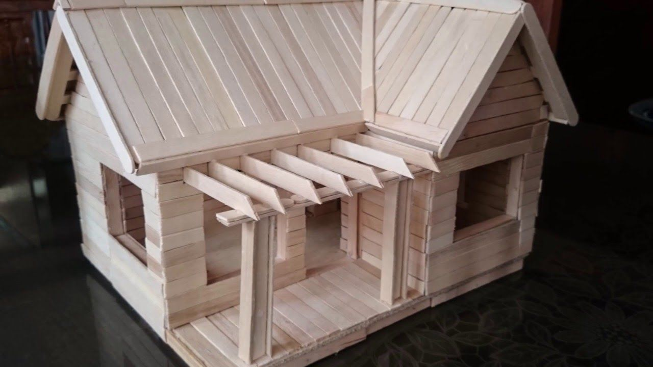 Image Result For Popsicle Stick House Popsicle Stick Houses Diy Popsicle Stick Crafts Popsicle Stick Crafts House