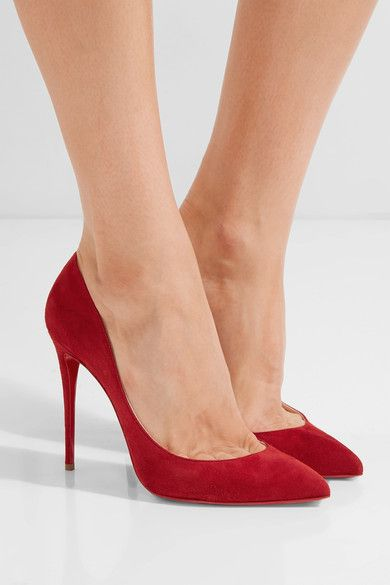 best website faa50 5f91e CHRISTIAN LOUBOUTIN Pigalle Follies 100 red suede pumps ...