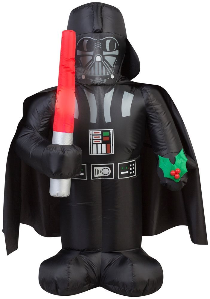 icymi 35ft star wars darth vader saber yard inflatable merry christmas decorations - Star Wars Inflatable Christmas Decorations