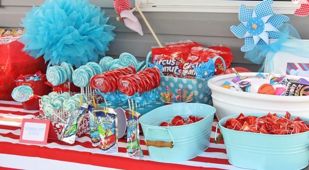 carnival party food table