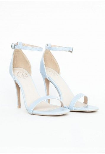 6bf8b82cd2 Clara Baby Blue Leather Strappy Sandals | Shoe Game | Shoes, Blue ...