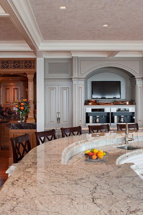 Bianco Romano Granite Countertop Design Ideas, Pictures, Remodel, And Decor    Page 28