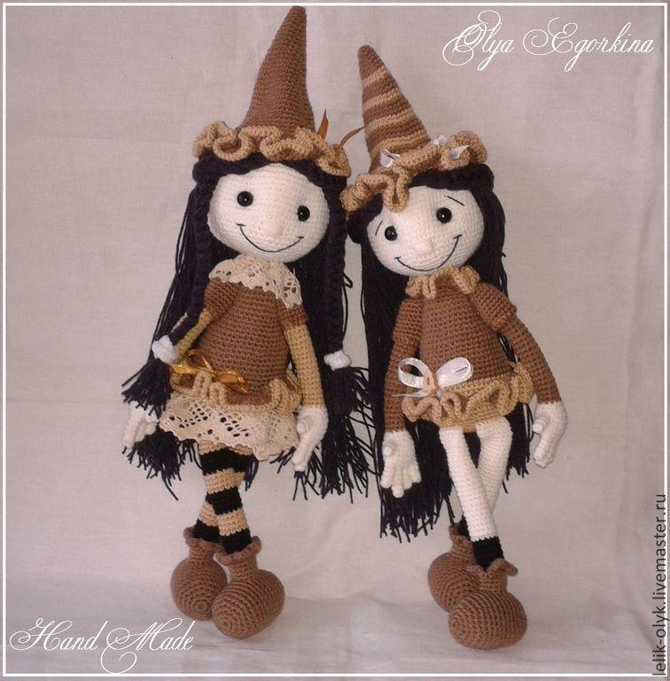 Добрая ведьмочка - ведьмочка,подарок,кукла ручной работы,на заказ,игрушка ручной работы