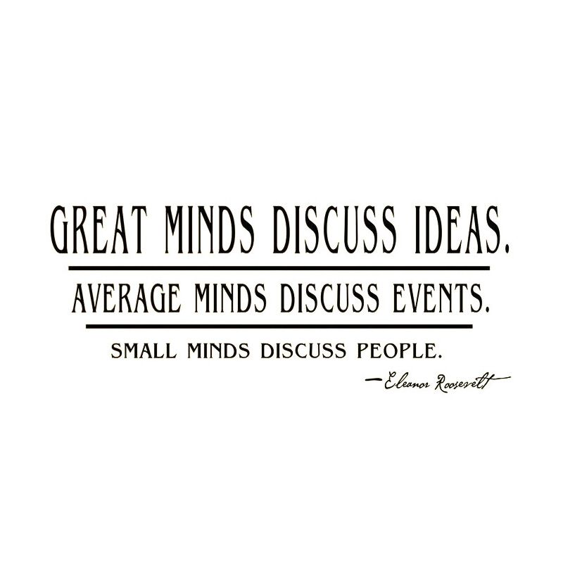 Great Minds Discuss Ideas Quotes Wall Sticker Text Living Room Decorative Wall Decor Home Decor -in Wall Stickers from Home & Garden on Aliexpress.com | Alibaba Group