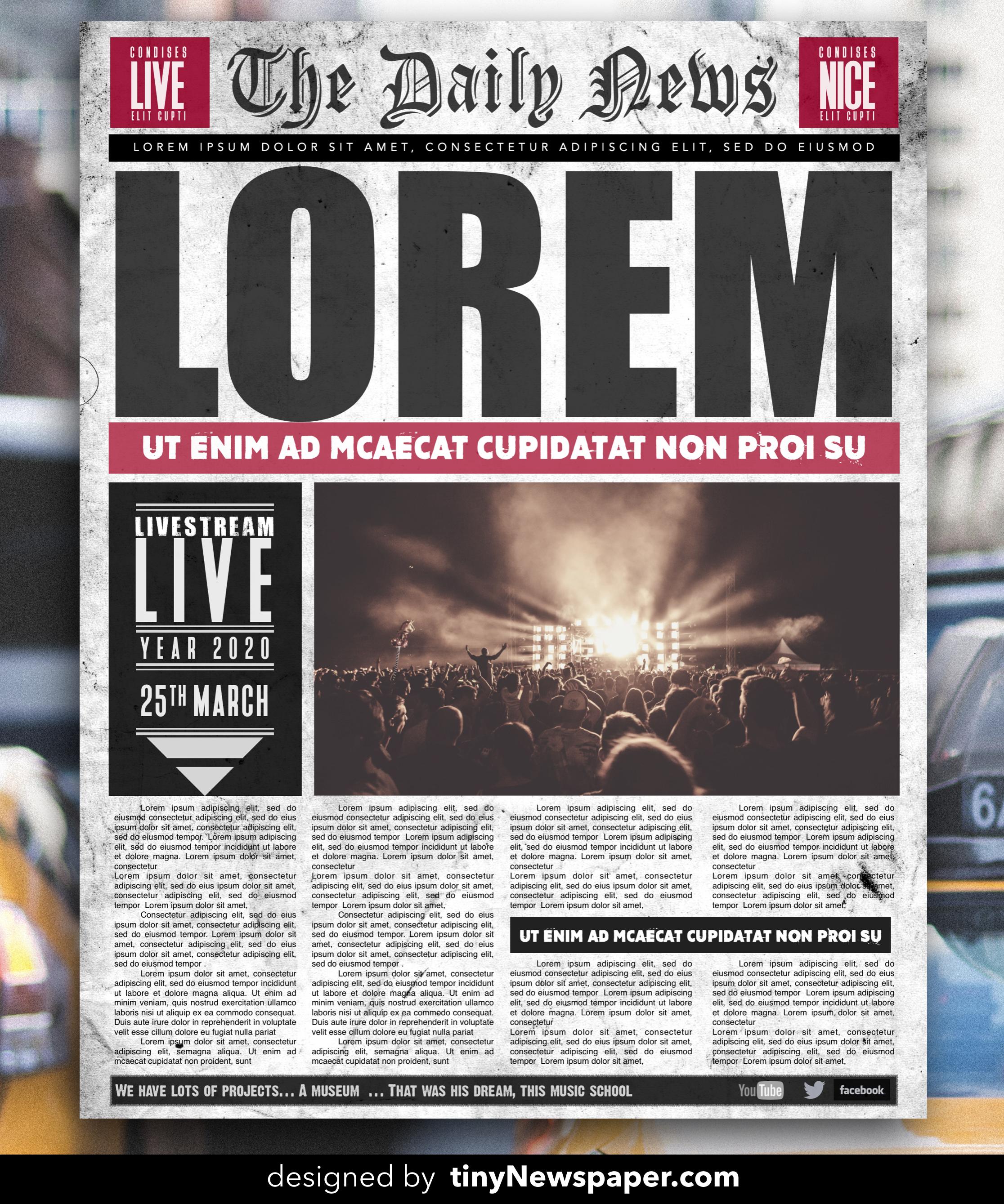 Grunge Newspaper Flyer Poster Word Free Download Flyer