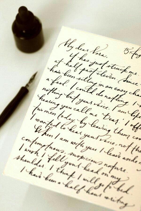 handwritten love letter   Handwritten letters, Lettering ...