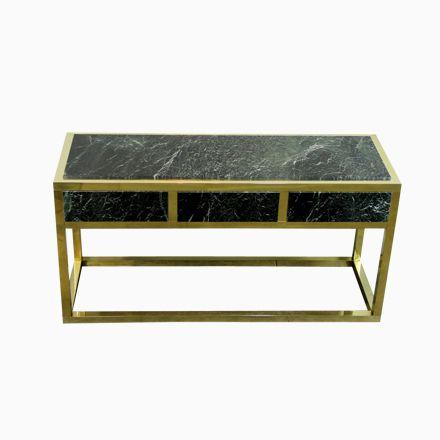 Spanischer Marmor \ Messing Konsolentisch, 1970er Jetzt bestellen - marmor wohnzimmer tische