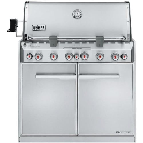 Weber Summit S 660 Built In Natural Gas Grill With Rotisserie Sear Burner 7460001 Bbqguys In 2020 Natural Gas Grill Propane Gas Grill Built In Gas Grills